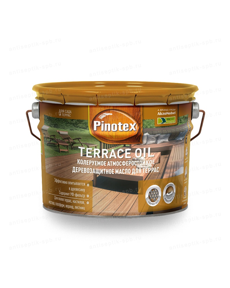 Масло для террас PINOTEX  WOOD OIL&TERRACE OIL